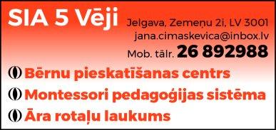 """""""5 Vēji"""", SIA reklāma Latvijas pašvaldību amatpersonu un politiķu kontaktinformācijas katalogā"""