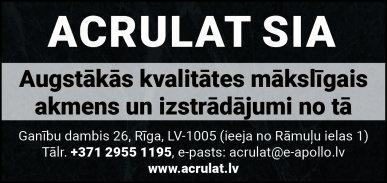 """""""Acrulat"""", SIA reklāma Rīgas domes amatpersonu un politiķu kontaktinformācijas katalogā"""