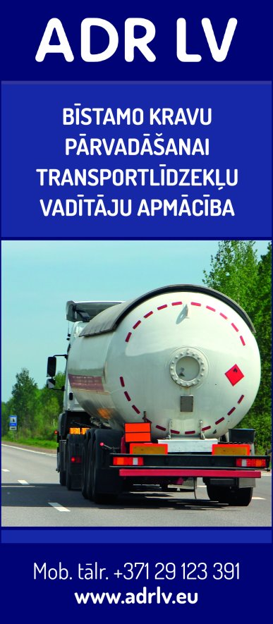 """""""ADR LV"""", SIA, Bīstamo kravu pārvadājumu mācību un konsultāciju centrs reklāma Rīgas domes amatpersonu un politiķu kontaktinformācijas katalogā"""