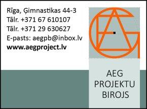 """""""AEG Projektu birojs"""", SIA reklāma Rīgas domes amatpersonu un politiķu kontaktinformācijas katalogā"""