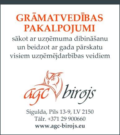"""""""AGC birojs"""", SIA reklāma Rīgas domes amatpersonu un politiķu kontaktinformācijas katalogā"""