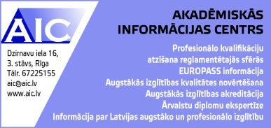 """""""Akadēmiskās informācijas centrs"""", nodibinājums reklāma Rīgas domes amatpersonu un politiķu kontaktinformācijas katalogā"""