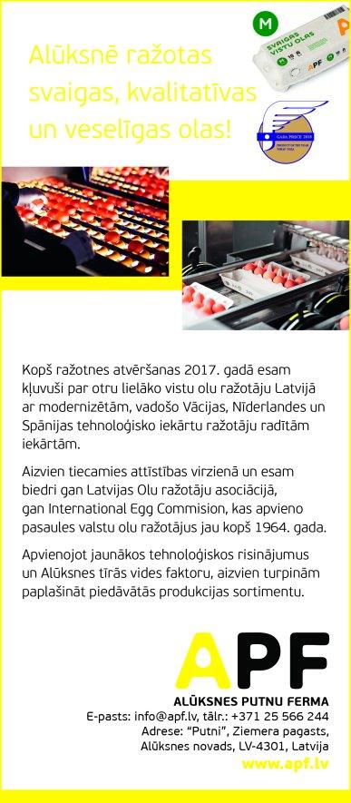 """""""Alūksnes putnu ferma"""", SIA reklāma Rīgas domes amatpersonu un politiķu kontaktinformācijas katalogā"""
