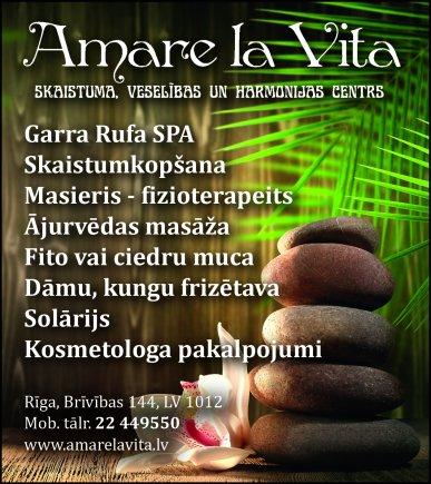 """""""Amare La Vita"""", SIA, Skaistumkopšanas salons reklāma Rīgas domes amatpersonu un politiķu kontaktinformācijas katalogā"""