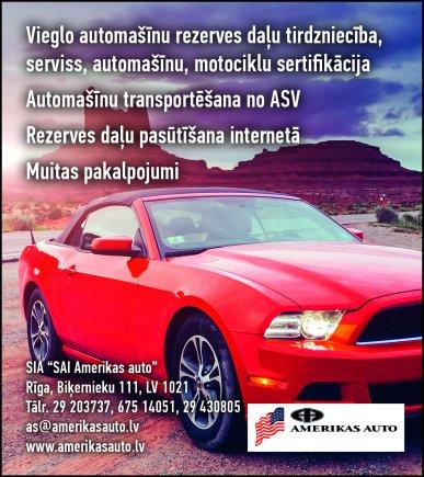 """""""SAI Amerikas auto"""", SIA reklāma Latvijas pašvaldību amatpersonu un politiķu kontaktinformācijas katalogā"""