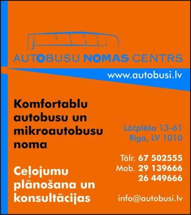 """""""Autobusu nomas centrs"""", SIA reklāma Rīgas domes amatpersonu un politiķu kontaktinformācijas katalogā"""