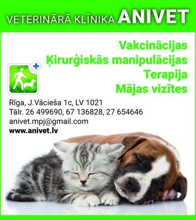 """""""Anivet"""", SIA reklāma Rīgas domes amatpersonu un politiķu kontaktinformācijas katalogā"""