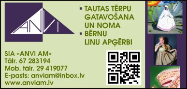"""""""ANVI AM"""", SIA reklāma Latvijas pašvaldību amatpersonu un politiķu kontaktinformācijas katalogā"""