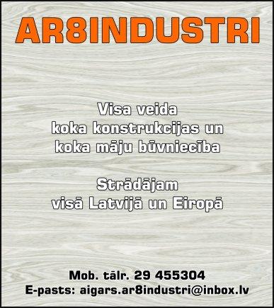 """""""AR8Industri"""", SIA reklāma Rīgas domes amatpersonu un politiķu kontaktinformācijas katalogā"""