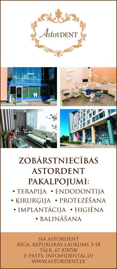 """""""AstorDent"""", SIA reklāma Rīgas domes amatpersonu un politiķu kontaktinformācijas katalogā"""