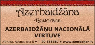 """""""Azerbaidžāna"""", restorāns reklāma Latvijas pašvaldību amatpersonu un politiķu kontaktinformācijas katalogā"""
