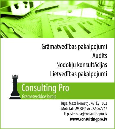 """""""Consulting Pro"""", SIA reklāma Rīgas domes amatpersonu un politiķu kontaktinformācijas katalogā"""