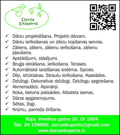 """""""Dārza Eksperts"""", SIA reklāma Rīgas domes amatpersonu un politiķu kontaktinformācijas katalogā"""