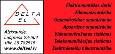 """""""Delta EL"""", SIA reklāma Latvijas pašvaldību amatpersonu un politiķu kontaktinformācijas katalogā"""