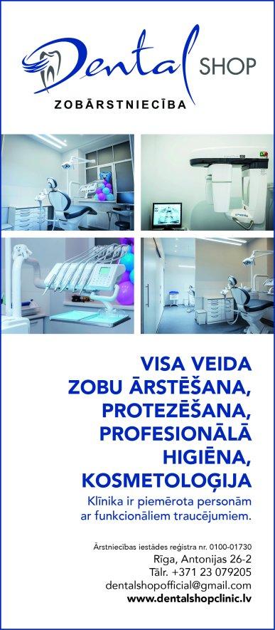 """""""Dental Shop"""", SIA reklāma Latvijas pašvaldību amatpersonu un politiķu kontaktinformācijas katalogā"""