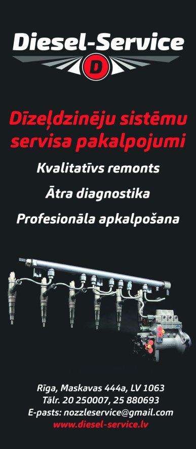 """""""Diesel-Service"""", SIA reklāma Rīgas domes amatpersonu un politiķu kontaktinformācijas katalogā"""
