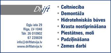 """""""Drift"""", SIA reklāma Latvijas pašvaldību amatpersonu un politiķu kontaktinformācijas katalogā"""
