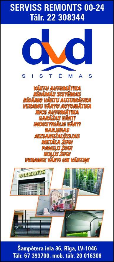 """""""DVD Sistēmas"""", SIA reklāma Latvijas pašvaldību amatpersonu un politiķu kontaktinformācijas katalogā"""