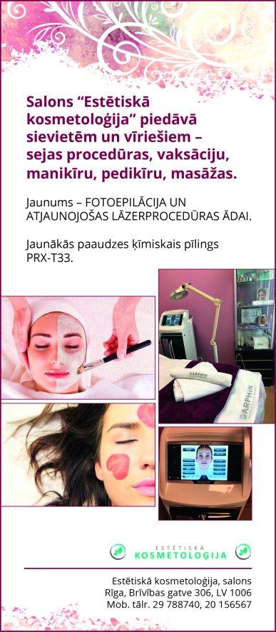 """""""Estētiskā kosmetoloģija"""", salons reklāma Latvijas pašvaldību amatpersonu un politiķu kontaktinformācijas katalogā"""