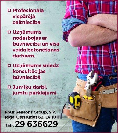 """""""Four Seasons Group"""", SIA reklāma Rīgas domes amatpersonu un politiķu kontaktinformācijas katalogā"""