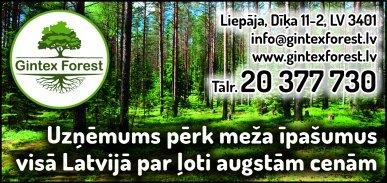 """""""Gintex Forest"""", SIA reklāma Rīgas domes amatpersonu un politiķu kontaktinformācijas katalogā"""
