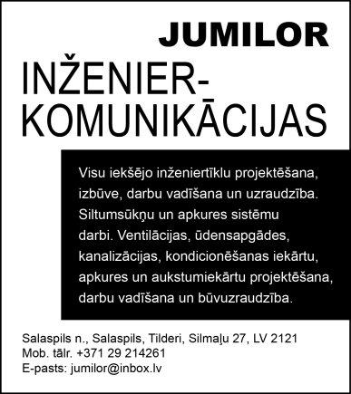 """""""Jumilor"""", SIA reklāma Rīgas domes amatpersonu un politiķu kontaktinformācijas katalogā"""
