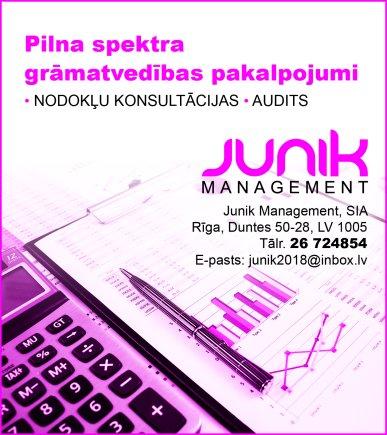 """""""Junik Management"""", SIA reklāma Rīgas domes amatpersonu un politiķu kontaktinformācijas katalogā"""