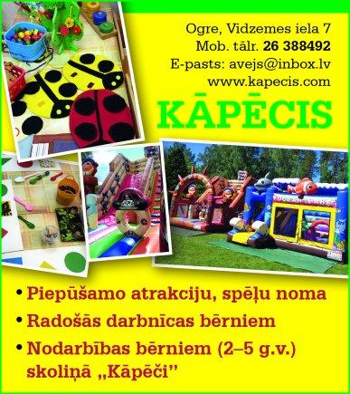 """""""Kāpēcis"""", atrakcijas reklāma Rīgas domes amatpersonu un politiķu kontaktinformācijas katalogā"""
