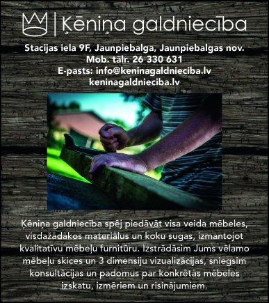 """""""Ķēniņa galdniecība"""", SIA reklāma Latvijas pašvaldību amatpersonu un politiķu kontaktinformācijas katalogā"""