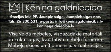 """""""Ķēniņa galdniecība"""", SIA reklāma Rīgas domes amatpersonu un politiķu kontaktinformācijas katalogā"""