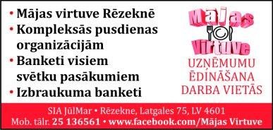 """""""Mājas virtuve"""", kafejnīca reklāma Rīgas domes amatpersonu un politiķu kontaktinformācijas katalogā"""