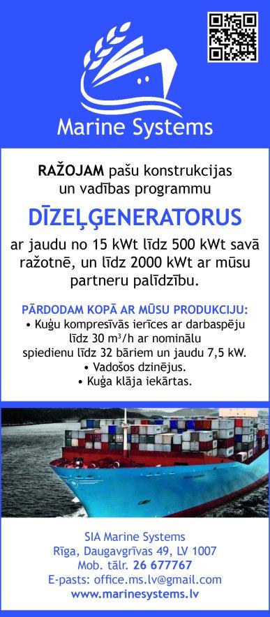 """""""Marine Systems"""", SIA reklāma Latvijas pašvaldību amatpersonu un politiķu kontaktinformācijas katalogā"""