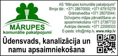 """""""Mārupes komunālie pakalpojumi"""", AS reklāma Latvijas pašvaldību amatpersonu un politiķu kontaktinformācijas katalogā"""