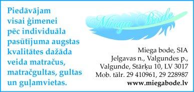 """""""Miega bode"""", SIA reklāma Latvijas pašvaldību amatpersonu un politiķu kontaktinformācijas katalogā"""