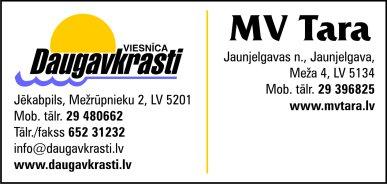 """""""MV Tara"""", SIA reklāma Latvijas pašvaldību amatpersonu un politiķu kontaktinformācijas katalogā"""