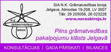 """""""N.K. Grāmatvedības birojs"""", SIA reklāma Rīgas domes amatpersonu un politiķu kontaktinformācijas katalogā"""