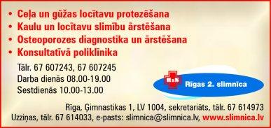 """""""Rīgas 2. slimnīca"""", SIA reklāma Rīgas domes amatpersonu un politiķu kontaktinformācijas katalogā"""