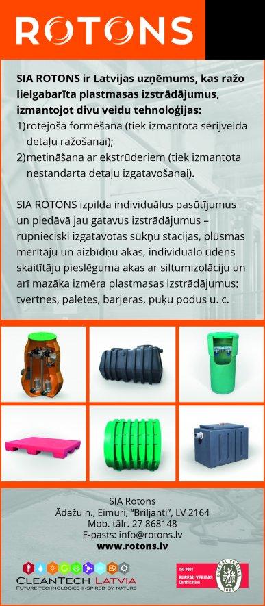 """""""Rotons"""", SIA reklāma Latvijas pašvaldību amatpersonu un politiķu kontaktinformācijas katalogā"""