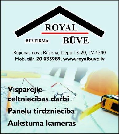 """""""Royal būve"""", SIA reklāma Latvijas pašvaldību amatpersonu un politiķu kontaktinformācijas katalogā"""