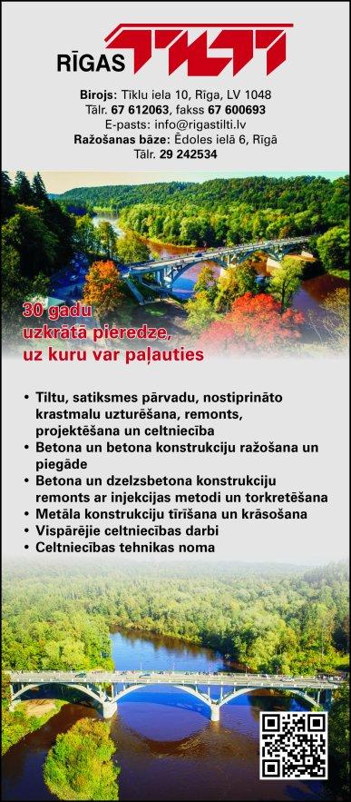 """""""Rīgas tilti"""", SIA reklāma Latvijas pašvaldību amatpersonu un politiķu kontaktinformācijas katalogā"""