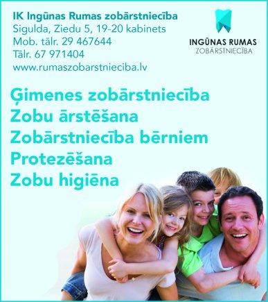 """""""Rumas zobārstniecība"""", SIA reklāma Rīgas domes amatpersonu un politiķu kontaktinformācijas katalogā"""