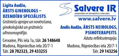 """""""Salvere IR"""", SIA reklāma Latvijas pašvaldību amatpersonu un politiķu kontaktinformācijas katalogā"""