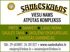 """""""Sauleskalns"""", atpūtas komplekss reklāma Rīgas domes amatpersonu un politiķu kontaktinformācijas katalogā"""