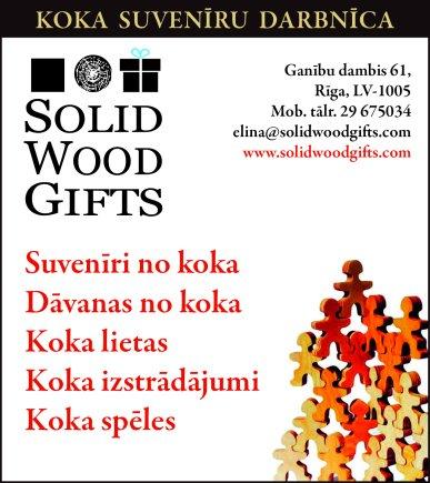 """""""Solid Wood Gifts"""" reklāma Latvijas pašvaldību amatpersonu un politiķu kontaktinformācijas katalogā"""