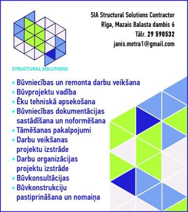 """""""Structural Solutions Contractor"""", SIA reklāma Latvijas pašvaldību amatpersonu un politiķu kontaktinformācijas katalogā"""