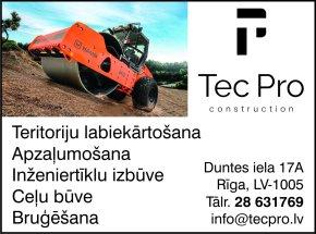 """""""TecPro Construction"""", SIA reklāma Rīgas domes amatpersonu un politiķu kontaktinformācijas katalogā"""
