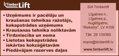 """""""Timberlift"""", SIA reklāma Rīgas domes amatpersonu un politiķu kontaktinformācijas katalogā"""