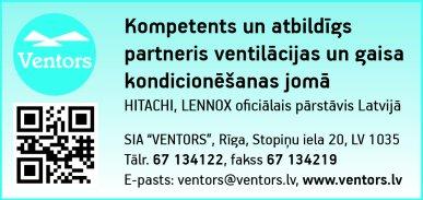 """""""Ventors"""", SIA reklāma Latvijas pašvaldību amatpersonu un politiķu kontaktinformācijas katalogā"""