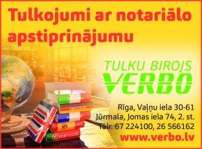 """""""Verbo"""", SIA, Tulkošanas birojs reklāma Rīgas domes amatpersonu un politiķu kontaktinformācijas katalogā"""