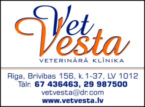 """""""Vetvesta"""", SIA, Veterinārā klīnika reklāma Rīgas domes amatpersonu un politiķu kontaktinformācijas katalogā"""